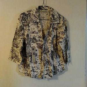 Country print blouse